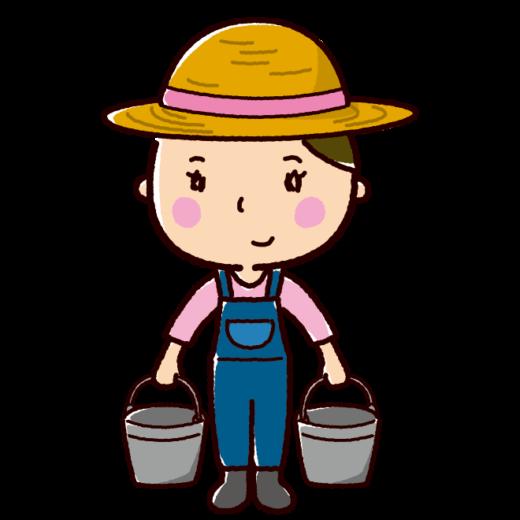 農家のイラスト(農業・女性)