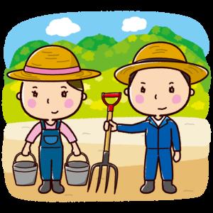 農家のイラスト(農業・男性・女性)