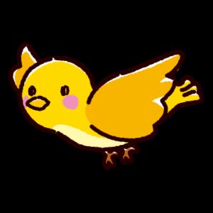 黄色い鳥のイラスト