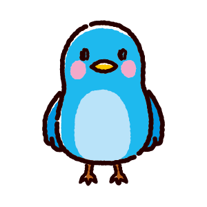 青い鳥のイラスト