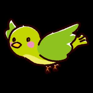 緑色の鳥のイラスト