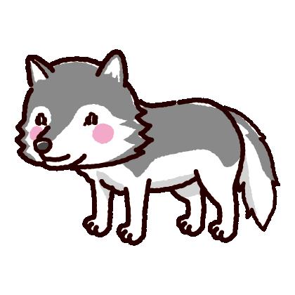 狼のイラスト(2カラー)