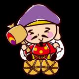 かわいい七福神のイラスト(大黒天)