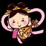 かわいい七福神のイラスト(弁財天)