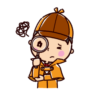 困るイラスト(探偵)