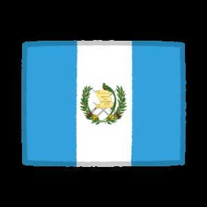 国旗のイラスト(グアテマラ共和国)