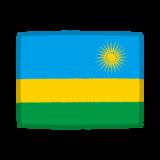 国旗のイラスト(ルワンダ共和国)