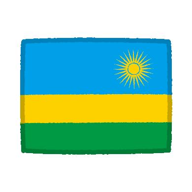 国旗のイラスト(ルワンダ共和国)(2カット)