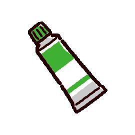 絵の具のイラスト(緑)