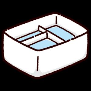 筆洗いバケツのイラスト(角)