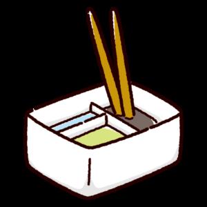 筆洗いバケツのイラスト(角・筆)