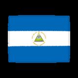 国旗のイラスト(ニカラグア共和国)