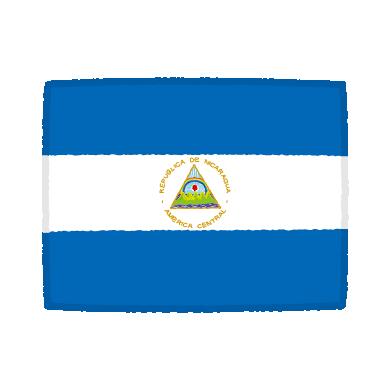 国旗のイラスト(ニカラグア共和国)(2カット)