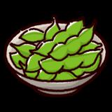 枝豆のイラスト(おつまみ)