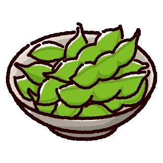 小鉢に盛った枝豆のイラスト