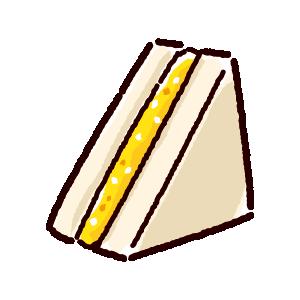 サンドイッチのイラスト(タマゴサンド)(2カット)