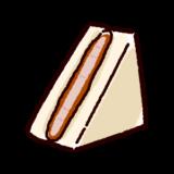 サンドイッチのイラスト(カツサンド)