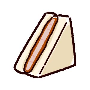 サンドイッチのイラスト(カツサンド)(2カット)