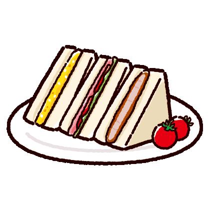 サンドイッチセットのイラスト(2カット)