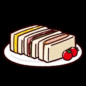 サンドイッチセットのイラスト