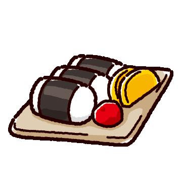 おにぎりセットのイラスト(2カット)