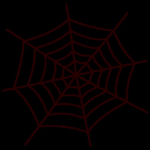 クモの巣のイラスト(ハロウィン)(2カット)
