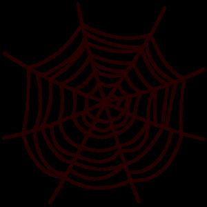 クモの巣のイラスト(ハロウィン)