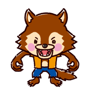 狼男のイラスト(ハロウィン)