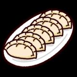 餃子のイラスト(焼く前)