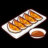 焼いた餃子のイラスト