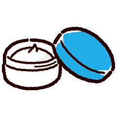 塗り薬のイラスト(軟膏)(2カット)