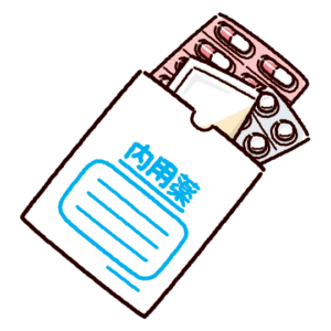 内用薬のイラスト(くすり袋)
