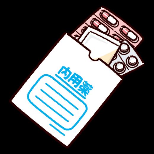 内用薬袋のイラスト(くすり袋)(2カット)
