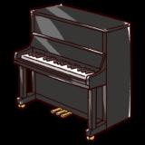 アップライトピアノのイラスト