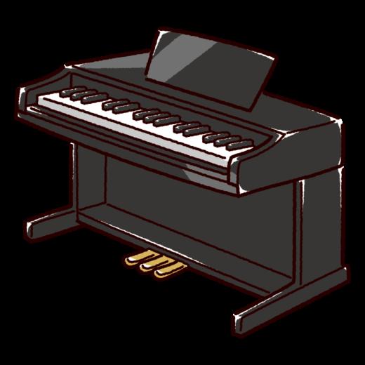 電子ピアノのイラスト(3カラー)