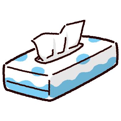 ティッシュペーパーのイラスト(箱・ボックス)(3カラー)