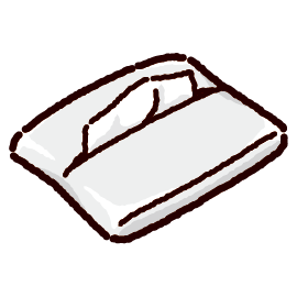 ポケットティッシュのイラスト(3カラー)