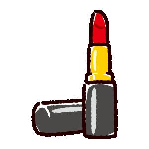 口紅のイラスト(化粧品・リップ・ルージュ)(2カラー)