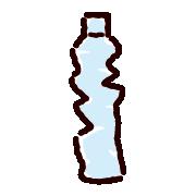 潰したペットボトルのイラスト