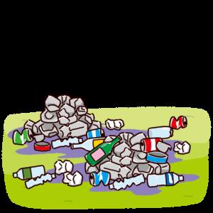 背景のイラスト(ゴミ問題)