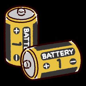 乾電池のイラスト(単一)