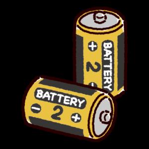 乾電池のイラスト(単二)