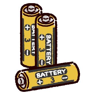 乾電池のイラスト(単三)(2カット)