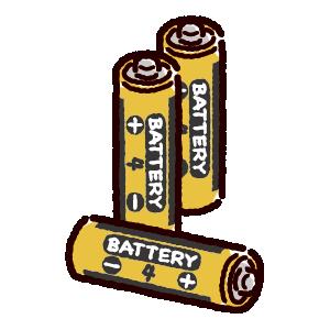 乾電池のイラスト(単四)(2カット)