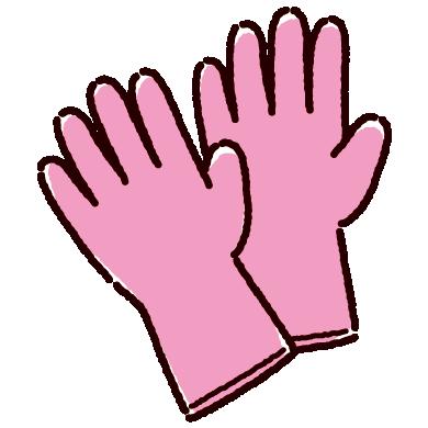 ゴム手袋のイラスト(3カラー)