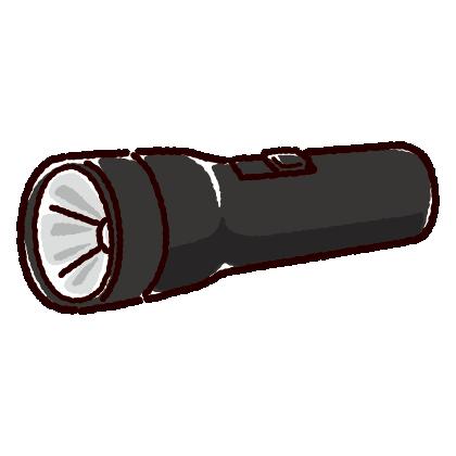 懐中電灯のイラスト(2カラー)