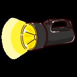 懐中電灯のイラスト(大・点灯)