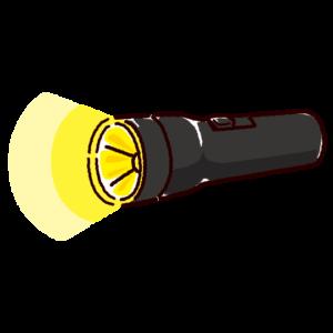 懐中電灯のイラスト(点灯)