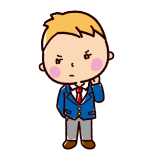ツンのイラスト(ツンデレ・男子学生)