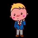 デレのイラスト(ツンデレ・男子学生)